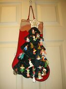 Hallmark Stocking Display With 21 Miniature Ornaments And 2 Ornaments