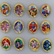 Disney Character Of The Month Ariel Maleficent Alice Tinker Bell Dale 12 Pin Set