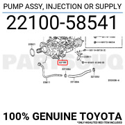 2210058541 Genuine Toyota Pump Assy Injection Or Supply 22100-58541