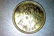 Rare 1863 Civil War Store Token Oliver Boutwell Miller/ Troy Ny Xf