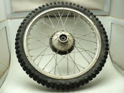 """Bultaco Alpina 350 9520 Akront 21"""" Front Wheel And Tire A"""