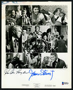 James Jimmy Stewart And Sue Ane Langdon Autographed 8x10 Photo Beckett H44339