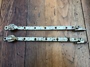Pair Of Early 1900s Window Casement Arms Stay Fasteners Pattern End
