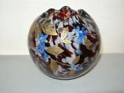 Incredible Harrach Propeller Signed Glass Vase Art Nouveau Joyously Hand Painted