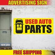 Auto Parts Advertising Banner Vinyl Mesh Decal Sign Used Car Repair Shop Sell 24