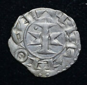France-maguelonne 1 Denier 11th-13th C Ef+ Silver Rob4336 Counts Bishopric