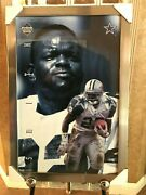 Emmitt Smith Costacos Brothers Power Portrait Poster Autographed And Custom Framed