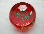 Gorgeous Rare Perthshire Art Glass Paperweight Cane Signed Many Windows 7/23/86