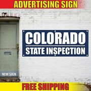 Colorado State Inspection Advertising Banner Vinyl Mesh Decal Sign Emission Open
