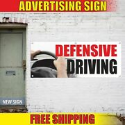 Defensive Driving Advertising Banner Vinyl Mesh Decal Sign Safe School Comedy