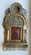 Ikone,antique Russian Orthodox Icon ,,st.eudokia,, From 19c.