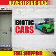 Exotic Cars Advertising Banner Vinyl Mesh Decal Sign Collection Auto Race Rare