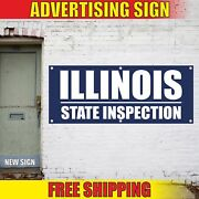 Illinois State Inspection Advertising Banner Vinyl Mesh Decal Sign Repair Open