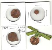 Mini Novelty Lincoln Cent 1957 1964 1975 Counter Stamp Planchet Error Usa Penny