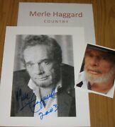 Merle Haggard Country Legend Autograph Photo And Photos Collectible