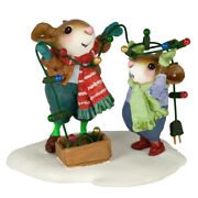 Wee Forest Folk Merry And Bright Wff M-493a Christmas Lights Mouse