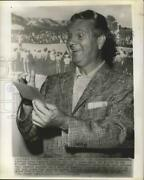 1956 Press Photo Jimmy Demaret Admires His First Place Check For 2000