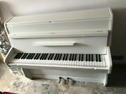 Small White Gloss 6 Octave Overstrung Kemble British Made Upright Piano
