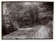 Antique Glass Negative The Parting Of The Ways Dublin Nh New Hampshire C.1900