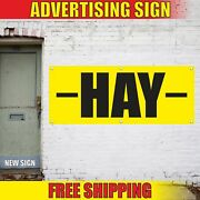 Hay Advertising Banner Vinyl Mesh Decal Sign We Buy Sell Sale Fresh Grass Feed