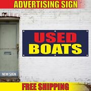 Used Boats Advertising Banner Vinyl Mesh Decal Sign Sale We Finance Buy Sell New