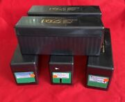 Lot Of 5 Used Pcgs Black Storage Boxes - Holds 20 Coins Each - Free Shipping