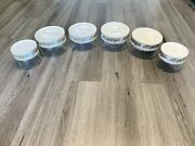 Vintage Pyrex Ware Glass Canisters Set Of 6