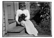 3 Glass Negatives Dog Blackie Owner Dell Palmer Of Dublin New Hampshire Nh 1900