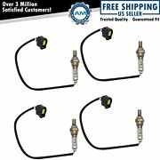 4 Piece O2 02 Oxygen Sensor Direct Fit Upstream And Downstream Kit