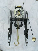 Hermle Skeleton Clock With Very Rare Wall Mount For Parts As Is Made In Germany