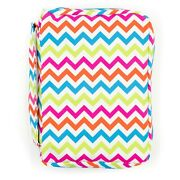 Bible Cover For Girls, Colorful Chevron Book Carrier With Pockets And Handle