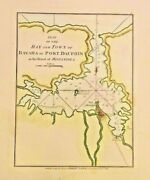 Rare Map Of A Plan Of The Bay And Town Of Bayaha Or Port Dauphin 1788haitianddom Rep