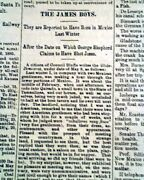 Jesse And Frank James Outlaws Bank And Train Robbers 1880 Kansas City Mo Newspaper