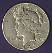 Us Silver Dollar Collection 1935 Peace 1 Cover W/ 1945 3c Stamp