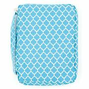 Bible Cover For Girls Trellis Pattern Book Carrier With Pocket And Handle Aqua