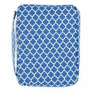 Bible Cover For Girls Trellis Pattern Book Carrier With Pocket And Handle Navy