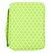 Bible Cover For Girls Trellis Pattern Book Carrier With Pocket And Handle Green