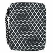 Bible Cover For Girls Trellis Pattern Book Carrier With Pocket And Handle Black