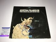 Aretha Franklin Signed Vinyl Secord This Girl's In Love Queen Of Soul Psa Dna