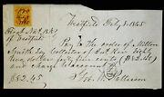 Obsolete Bank Check Westfield Ny National Bank 1865 George W Patterson Signed