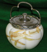 Antique Smith Brothers Melon Ribbed Cracker Or Biscuit Jar