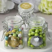 75 Personalized Apothecary Glass Candy Jars Baby Shower Christening Party Favors