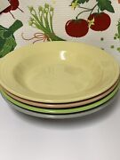 Fiestaware Rimmed Soup Bowl Lot/4 Fiesta Retired Colors 9 Inch Pasta Bowl New