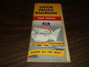 Fall-winter 1958 Union Pacific System Public Timetables
