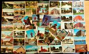 57 Postcards All From Bangor Maine Lot Me 1906-70s Architecture Large Letter