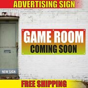 Game Room Coming Soon Advertising Banner Vinyl Mesh Decal Sign Play Fun Open 24