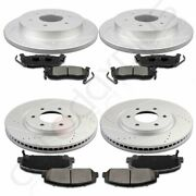 Front + Rear Brake Pads And Rotors Discs For Infiniti Qx56 Base 5.6l 2008-2010