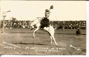 C.1915 Peggy Warren On Snake Early Women Rodeo - Rare Real Photo Card