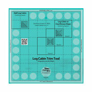 Creative Grids -- Log Cabin Trim Tool For 8in Finished Blocks Quilt Ruler