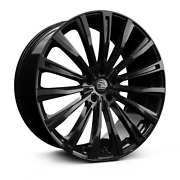 22 Hawke Chayton Black Alloy Wheels And Tyres For Range Rover Vogue And Sport